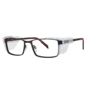 Safety Spex Icejem Premium Safety Glasses IJ111 Red/Matt Black